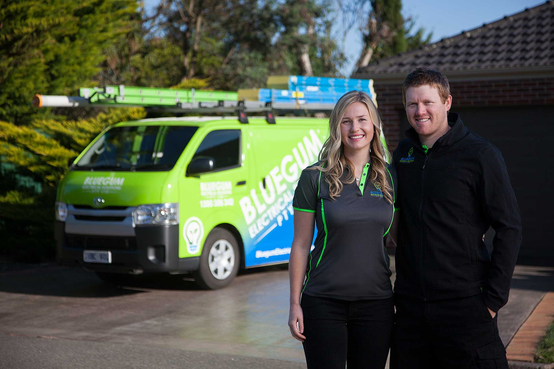Chantel Gilbert and Josh Gilbert Bluegum Electrical